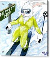 Snow Bunny Skiing Acrylic Print