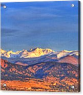 Snow-capped Panorama Of The Rockies Acrylic Print