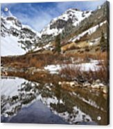 Snow-capped Refections Acrylic Print