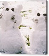 Snow Cats Acrylic Print