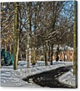 Snow Cleared Road Acrylic Print