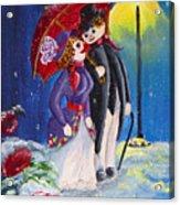 Snow Couple Acrylic Print