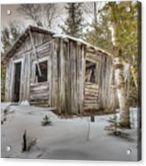 Snow Covered Abandon Cabin Acrylic Print