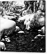 Snow Covered Banks Acrylic Print