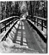 Snow Covered Bridge Acrylic Print by Daniel Carvalho