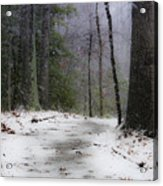 Snow Covered Path Quantico National Cemetery Acrylic Print