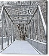 Snow Covered Pony Bridge Acrylic Print