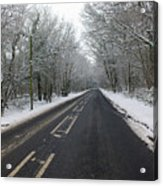 Snow Covered Road Acrylic Print