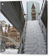 Snow Covered Stairs Acrylic Print