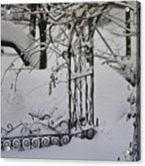 Snow Covered Wisteria Arch Acrylic Print