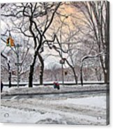 Snow Day On 5th Avenue Acrylic Print