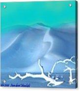 Snow Desert.moonlight Acrylic Print