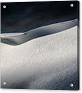 Snow Drift On The Beach Acrylic Print