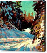 Snow Drive 2 Acrylic Print