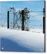 Snow Fence Acrylic Print by Joyce Kimble Smith