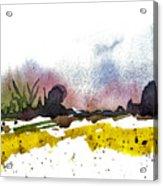 Snow Field Acrylic Print