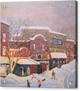 Snow For The Holidays Painting Acrylic Print