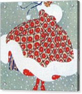 Snow Girl Acrylic Print
