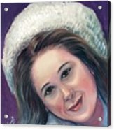 Snow Girl  Acrylic Print
