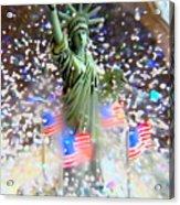 Snow Globe Liberty Acrylic Print