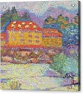 Snow Grove Park Inn Acrylic Print