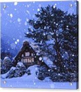 Snow, Historic Villages Of Shirakawa, Japan Acrylic Print