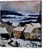 Snow In Ardennes 79 Acrylic Print