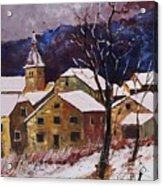 Snow In Chassepierre  Acrylic Print