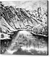 Snow In November Black And White Acrylic Print
