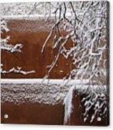 Snow In Santa Fe New Mexico Acrylic Print