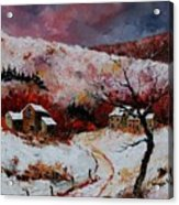 Snow In The Ardennes 78 Acrylic Print by Pol Ledent