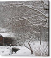 Snow In The Country. Acrylic Print