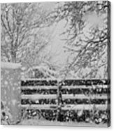 Snow In The Country Acrylic Print