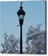 Snow In The Low-country Acrylic Print
