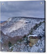 Snow In The Mountains Acrylic Print