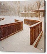 Snow In The Park 3d Acrylic Print