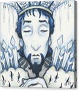 Snow King Slumbers Acrylic Print