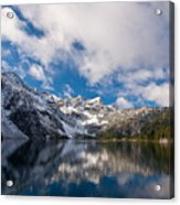 Snow Lake Vista Acrylic Print