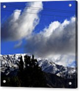 Snow Line In Socal Acrylic Print