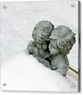 Snow Love Acrylic Print