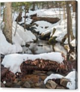Snow Melt Acrylic Print