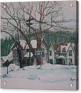 Snow Next Door Acrylic Print