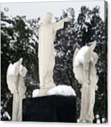 Snow On The Angels  Acrylic Print
