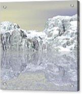 Snow On The Coast Acrylic Print