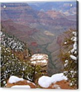 Snow On The Grand Canyon Acrylic Print