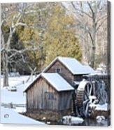 Snow On The Mill Acrylic Print