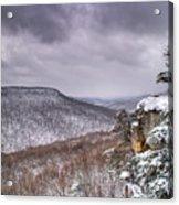Snow On The Plateau Acrylic Print