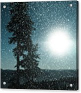 Snow Particles Back Light Acrylic Print