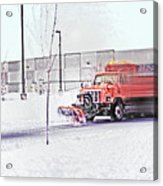 Snow Plow In Business Park 1 Acrylic Print