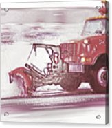 Snow Plow In Business Park 2 Acrylic Print